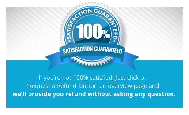 100% satisfaction or refund